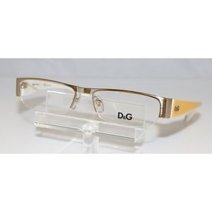 New Dolce & Gabbana Yellow Eyeglasses